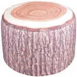 Decorative Garden Pouffe Outdoor Seat Tree Trunk Design