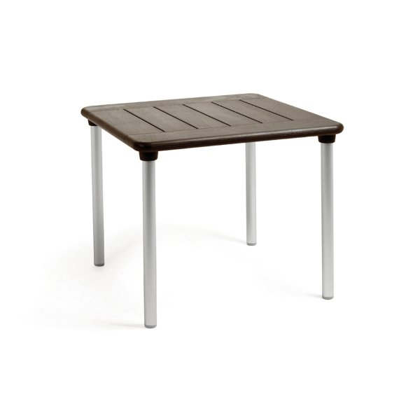 Toscana square 1m table in coffee with plain top Toscana coffee table