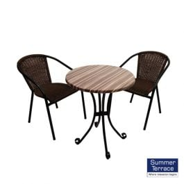 Kalmar Bistro Table with San Luca Chairs Set