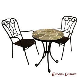 Orba Bistro Table with 2 Verona Chairs Set