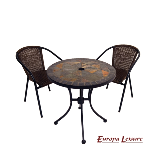 Tobarra Bistro Table with 2 San Luca Chairs Set