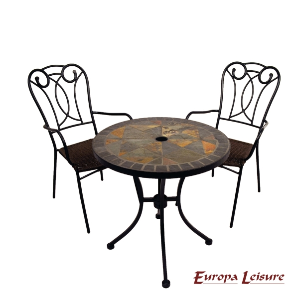 Tobarra Bistro Table with 2 Verona Chairs Set