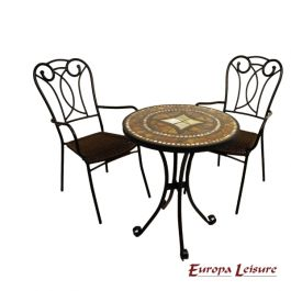 Torello Bistro Table with 2 Verona Chairs Set