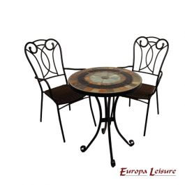 Villena Bistro Table with 2 Verona Chairs Set