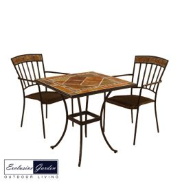 Clandon Square Table 71cm with 2 Kingswood Chairs Set