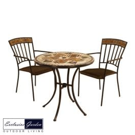 Dalton Bistro Table 76cm with 2 Kingswood Chairs Set