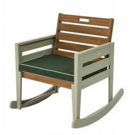 Florenity Verdi Eucalyptus Wood Rocking Chair with Seat Pad