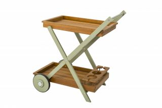 Florenity Verdi Two-Tier Wheeled Tea Trolley