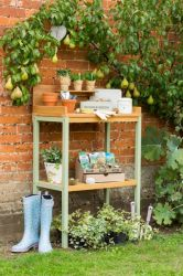 Florenity Verdi Two-Tier Wooden Potting Table