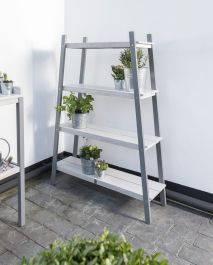 Florenity Grigio Eucalyptus Wood Grey Plant Shelf