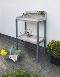 Florenity Grigio Two-Tier Potting Table