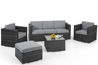 Georgia Sofa Set with Ice Bucket in Grey
