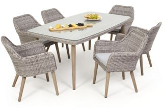 Paris Rattan 6 Seat Dining Set