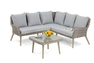 6 Seater Paris Rattan Small Corner Sofa Set
