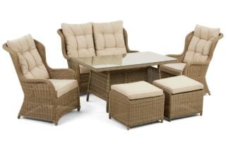 Winchester Rattan High Back Sofa Dining Set