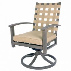 Encore Swivel Rocking Dining Arm Chair