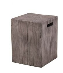 Foremost Square Stool in Grey - 45.7cm