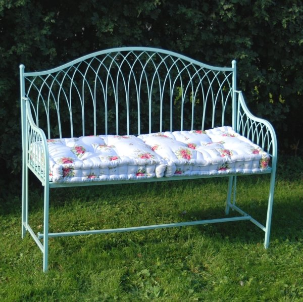 2 Seater Hampton Wrought Iron Garden Bench 115cm 163 156 00