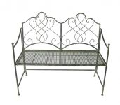 2 Seater Avalon Bench in Antique Finish - 108cm