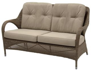 Sussex High Back 2 Seater Sofa with 4 cushions