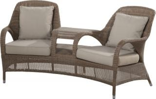 Sussex Love Seat with 4 Cushions