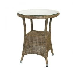 60cm Dia. Sussex Bistro Table with Glass Top