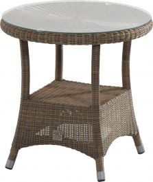 170cm Victoria Dining Table with Glass Top & Parasol Hole
