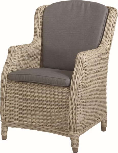 Brighton Dining Chair with 2 Cushions