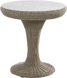 74cm Dia. Victoria Bistro Table with Glass Top
