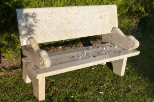 Hayworth Garden Bench- Pink Garden Furniture