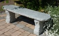 Rustic Bench 120cm l- pink granite Garden Furniture