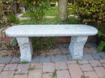 Acton Bench Bull Nosed Edge 120cm l- Grey Granite Garden Furniture