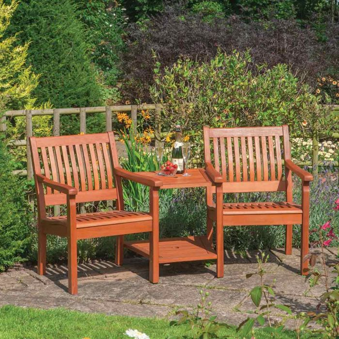 W1.76m (5ft 9in) Willington Wooden Companion Seat FSC® by Rowlinson®