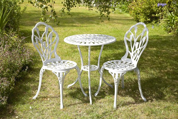 White Aluminium 2-Seater Bistro Set