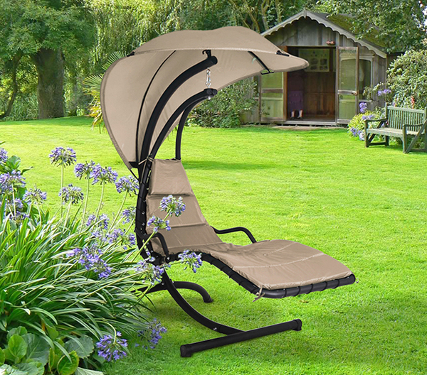 Helicopter Swing Seat in Taupe H190cm