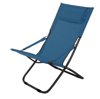 Foldable Chair in Blue H87cm x W65cm