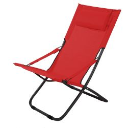 Foldable Chair in Red H87cm x W65cm