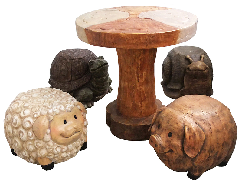 4-Seater Children's Animal Furniture Set