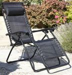 Pair of Anti Gravity Chairs in Black