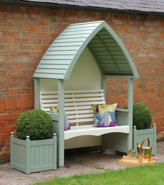 Heritage Sage and Cream Cottage Arbour