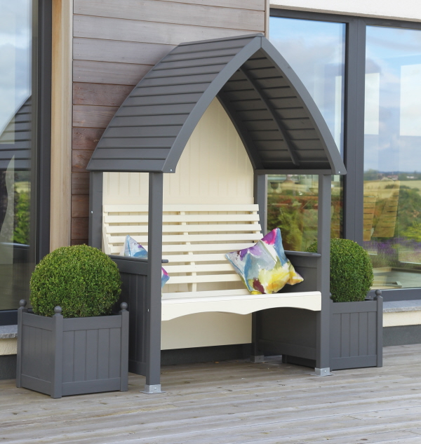 Charcoal and Cream Cottage Arbour