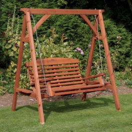 Beech Stain Apex 2 Seater Swing Seat