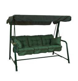 Glendale 3 Seater Swing Bench - Green