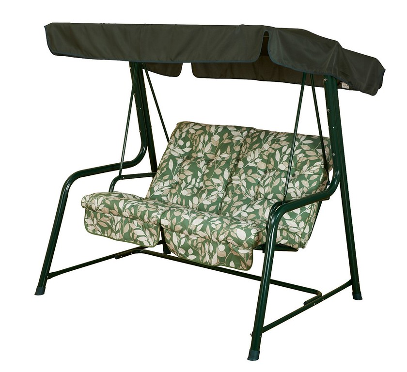 Vienna 2 Seater Swing Seat - Cotswold Leaf