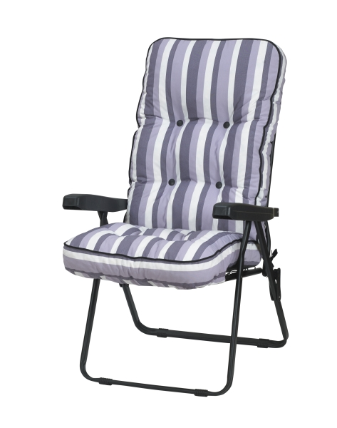 Deluxe Recliner - Lilac Stripe