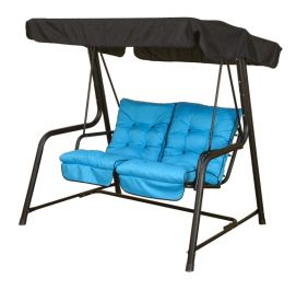 Vienna 2 Seater Swing Seat - Turquoise