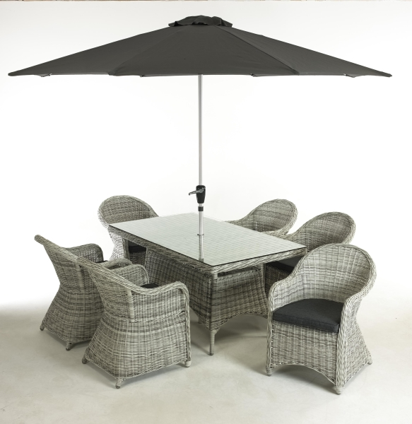 Bewdley 7 Piece Rattan Dining Set