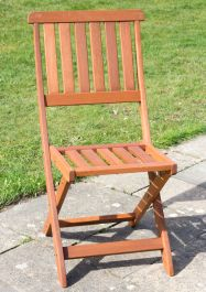 Ashford Pair Of Wooden Folding Garden Chairs By Liz Frances™