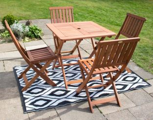 Ashford Square Wooden Garden Folding Table By Liz Frances™
