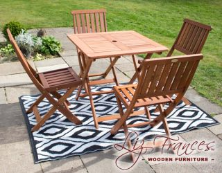 Ashford 4 Seater Hardwood Garden Furniture Set By Liz Frances™
